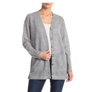 SOCIALITE Waffle Knit Horn Button Down Cardigan